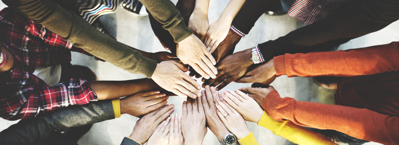 Group of Diverse Hands Together Joining Concept